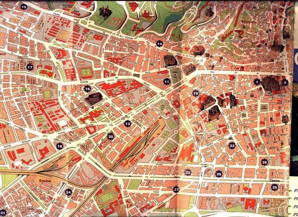 Map Of Spain Granada.Granada Tourist Map Granada Spain Mappery