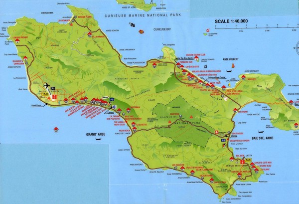 Grand Anse tourist Map