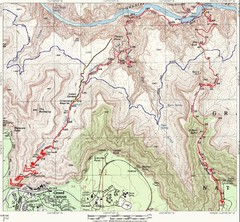 Grand Canyon Hiking Trail Map