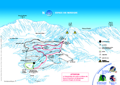 Grand Echaillon Ski Trail Map