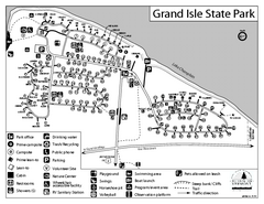 Grand Isle State Park Campground Map