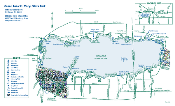 Grand Lake St. Marys State Park map