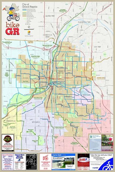 Bikes Grand Rapids Mi Fullsize Grand Rapids Bike Map