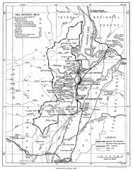 Grand Teton National Park, 1946 Map