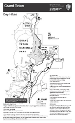 Grand Teton National Park Day Hikes Map