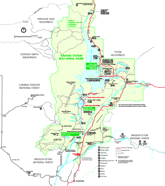 Grand Teton National Park Map - Summer