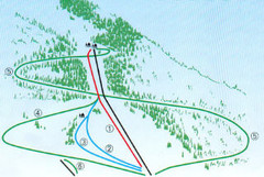 Granier Ski Trail Map