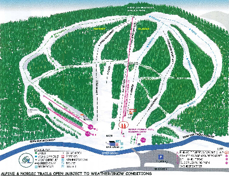 Granite Gorge Ski Trail Map