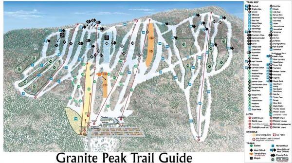 Granite Peak Ski Trail Map