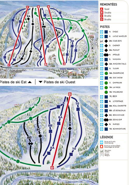 Gray Rocks Ski Trail Map