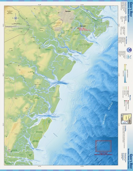 Gray's Reef National Marine Sanctuary Map