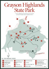Grayson Highlands State Park Map
