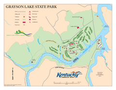 Grayson Lake State Park Map