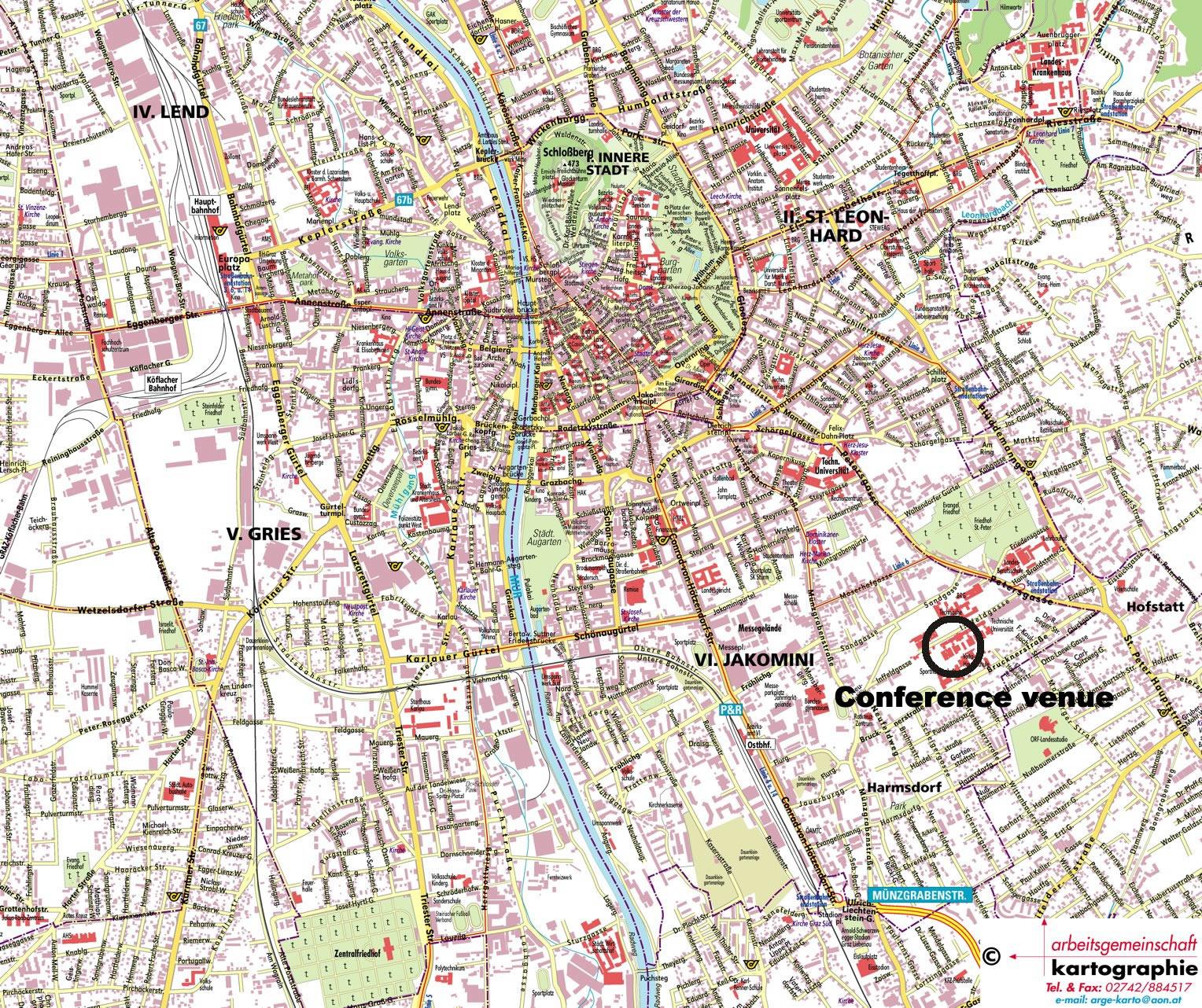 Graz Street Map Graz Austria Mappery - Graz austria map