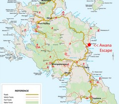 Great Barrier Island Map