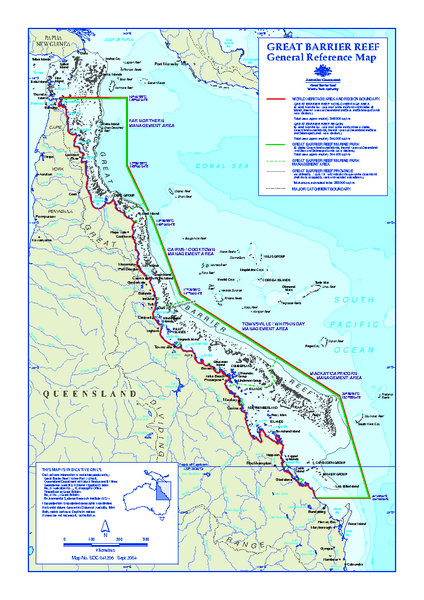 Great Barrier Reef Marine Park map  Hayman Island Australia  mappery