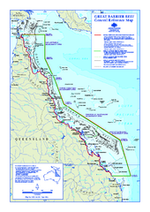 Great Barrier Reef Marine Park map