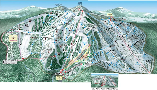 Great Divide Ski Area Ski Trail Map