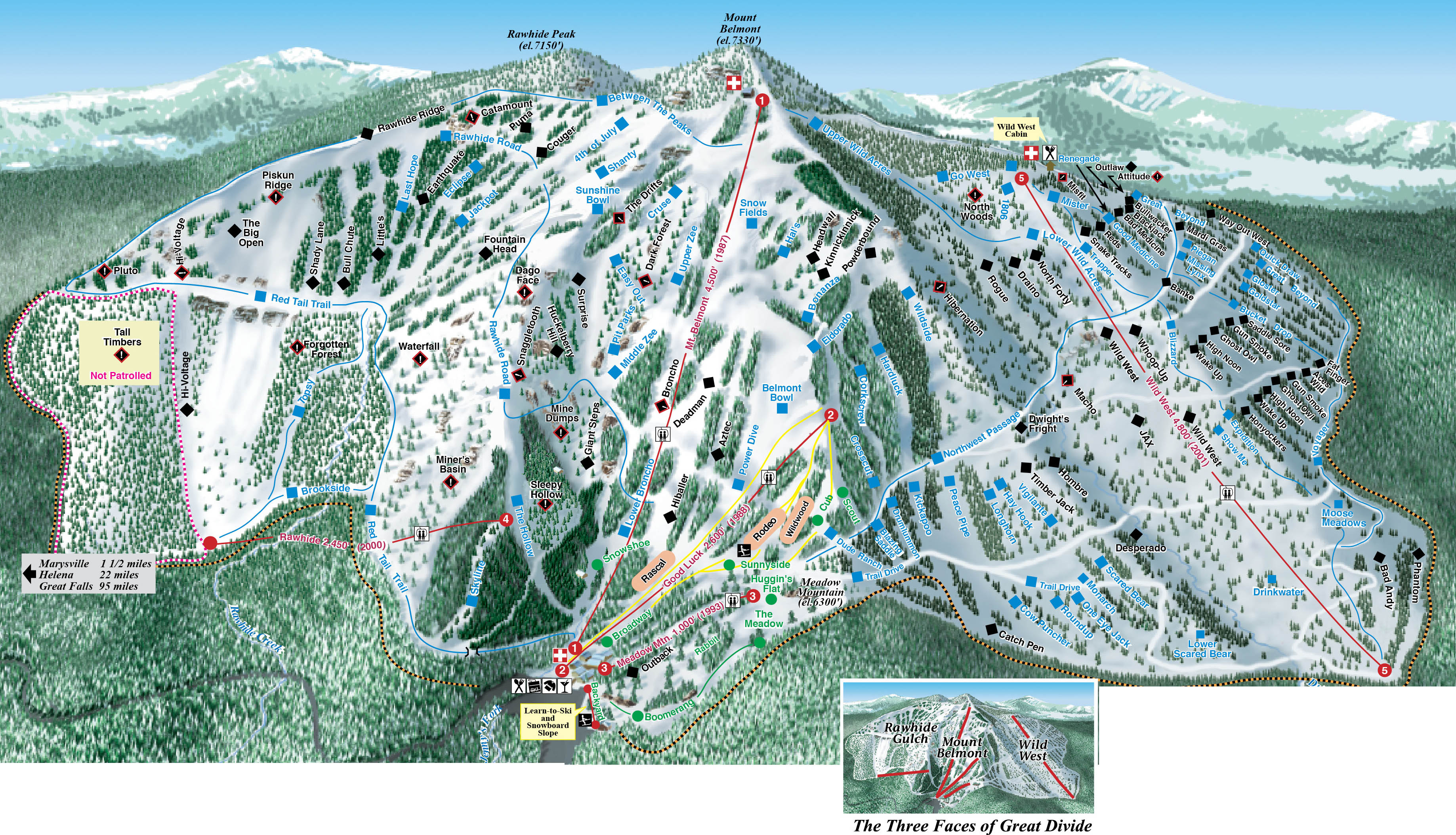 great divide ski trail map - 7385 belmont drive marysville mt 59640