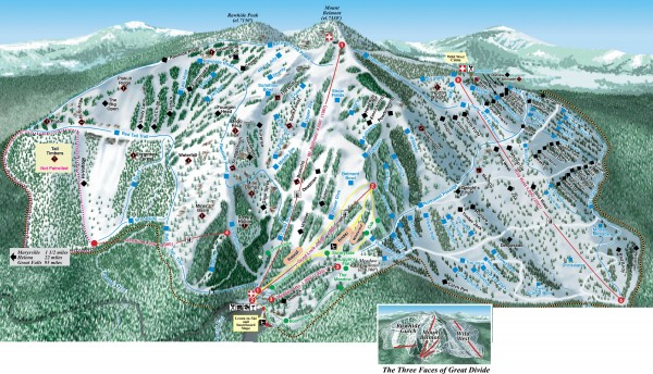 Great Divide Ski Trail Map