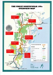 Great North Walk 100s Overview Map