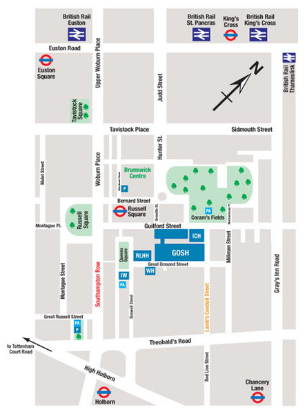 Great Ormond Street Hospital for Children Map