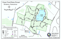 Great Pond State Park trail map