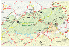 Great Smokey Mountains National Park Trail Map