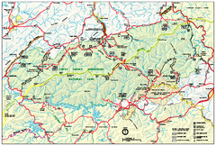 Great Smoky Mountains National Park - Park map