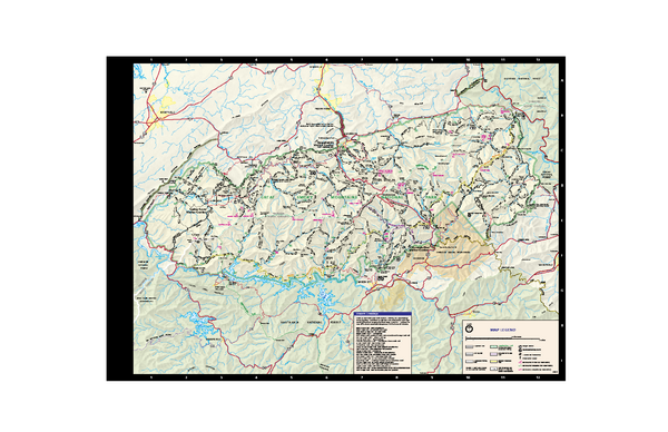 Great Smoky Mountains National Park - Trail map - Great Smoky ...