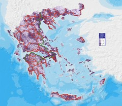 Greece Population Density Map