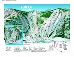 Greek Peak Ski Resort Ski Trail Map
