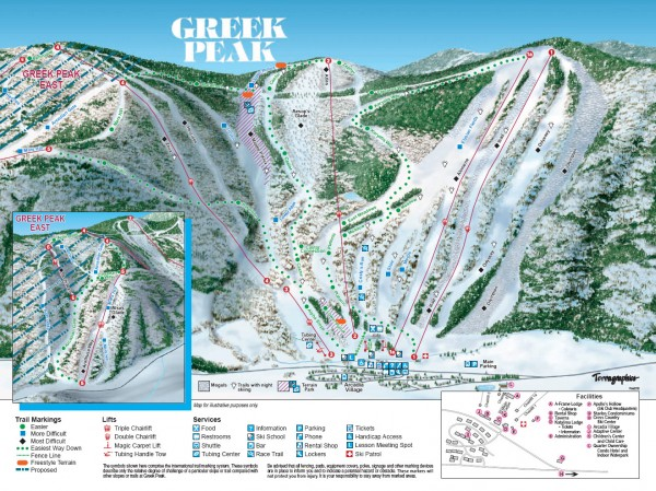 Greek Peak Ski Trail Map