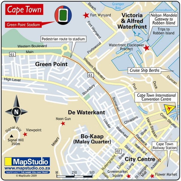 Green Point Stadium Cape Town South Africa Map - green point stadium ...