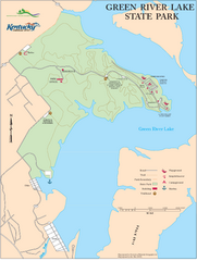 Green River Lake State Park Map