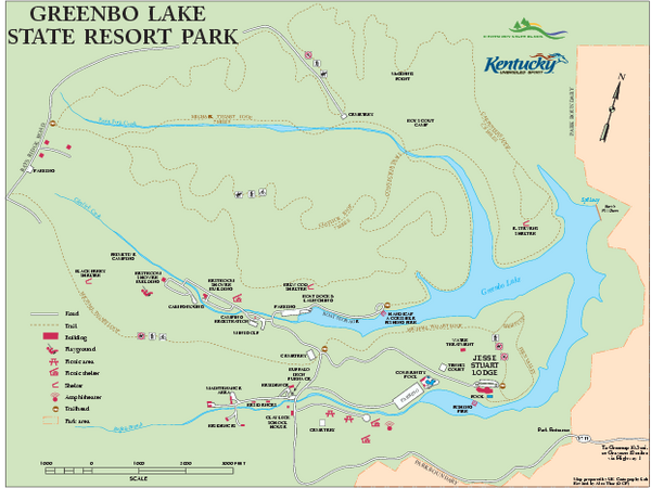 Greenbo Lake State Resort Park map