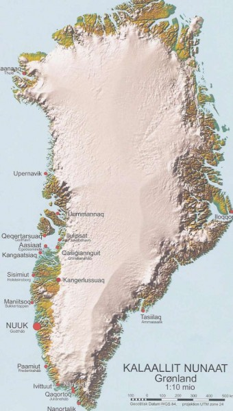 Greenland Physical map mappery