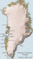 Greenland Physical map