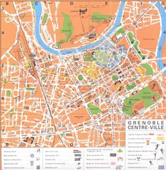 Grenoble centre-ville Map