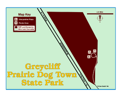 Greycliff Prairie Dog Town State Park Map