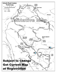 Grizzly Peak Century North Loop Route Map
