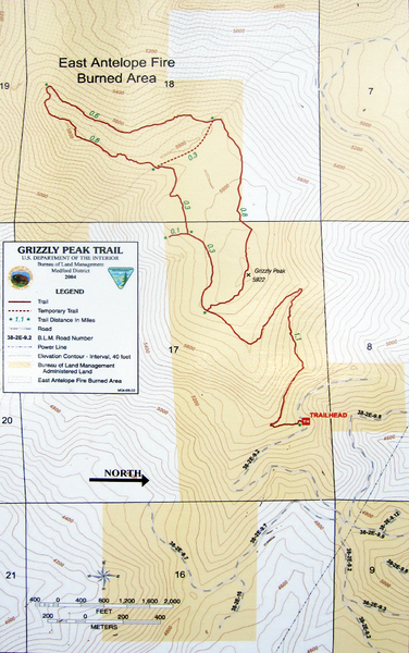 Grizzly Peak Trail Map Grizzly Peak Ashland Oregon Mappery