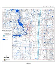 Groundwater Elevation of Portage County Map