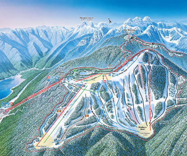 Grouse Mountain Ski Trail Map