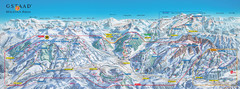 Gstaad Mountain Rides Ski Trail Map