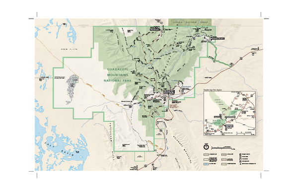 Guadalupe Mountains National Park Official Park Map