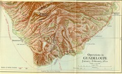 Guadeloupe British Military Operations 1810 Map