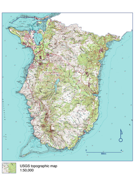 Guam Topo Map - South - Guam • mappery