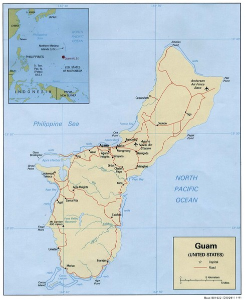 Guam Tourist Map - Guam • mappery