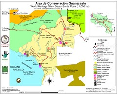Guanacaste Conservation Area Tourist Map